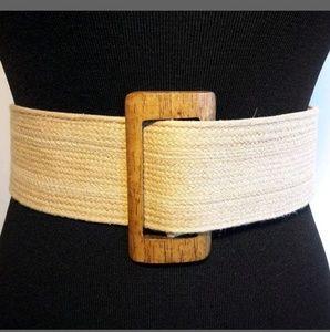 Banana Republic Womens Wide Natural Woven Belt